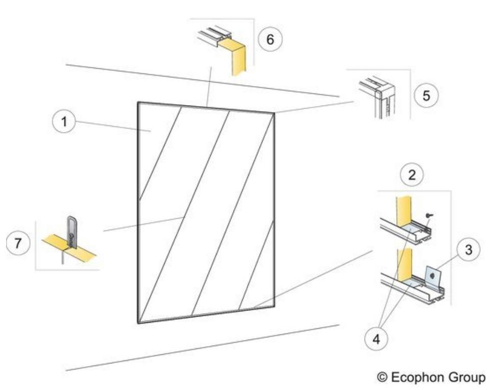 Монтаж стеновых панелей в